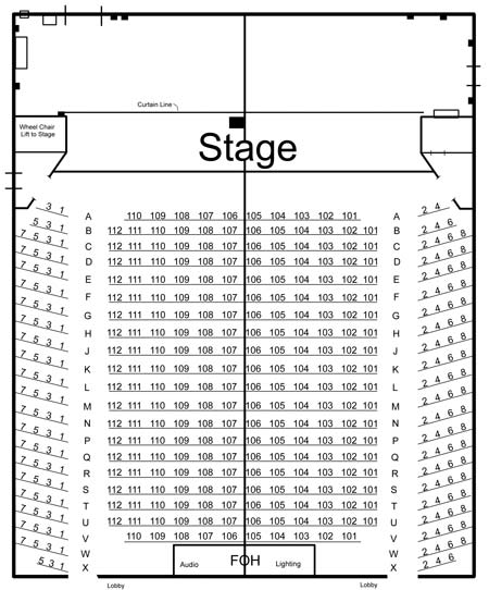 Seating Chart | Don Gibson Theatre