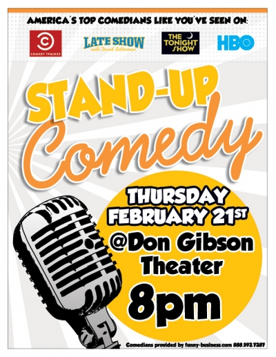 Stand Up Comedy Don Gibson Theatre